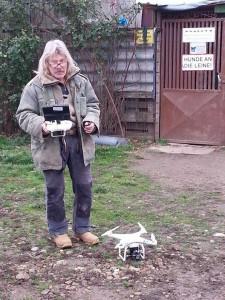 Harald mit Drohne